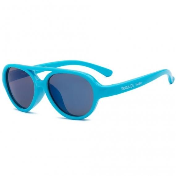 Детские солнцезащитные очки Real Kids Авиатор 2-4 года неон голубые