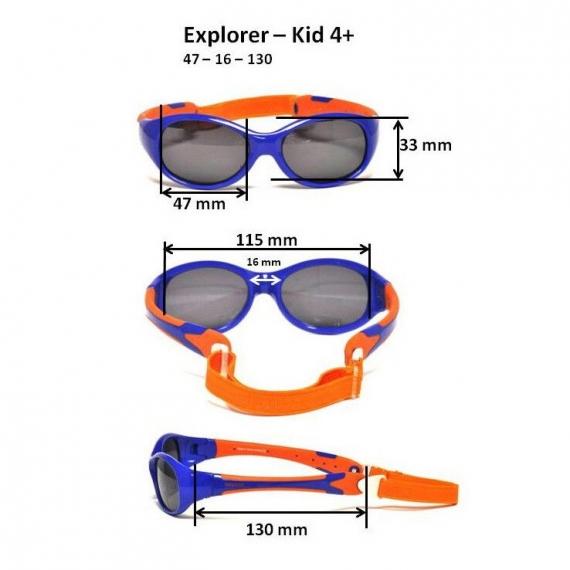 Детские солнцезащитные очки Real Kids Explorer 4+ розовые