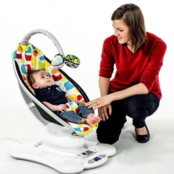 Кресло-качалка 4moms mamaRoo 3.0 Серебристая