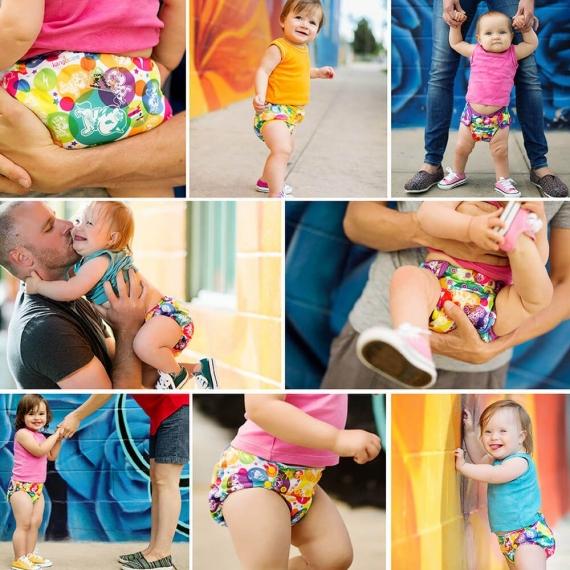 Подгузник для плавания Newborn Snap Cover Kanga Care tokiCorno/Dandelion
