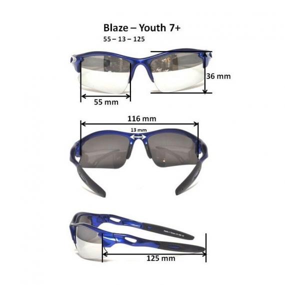 Детские солнцезащитные очки Real Kids 7+ Blaze черные