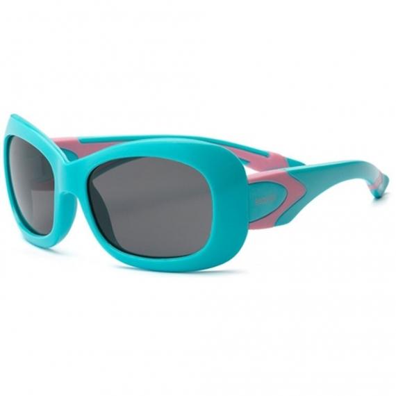Детские солнцезащитные очки Real Kids 7+ Breeze для девочек с поляризацией аквамарин/розовые