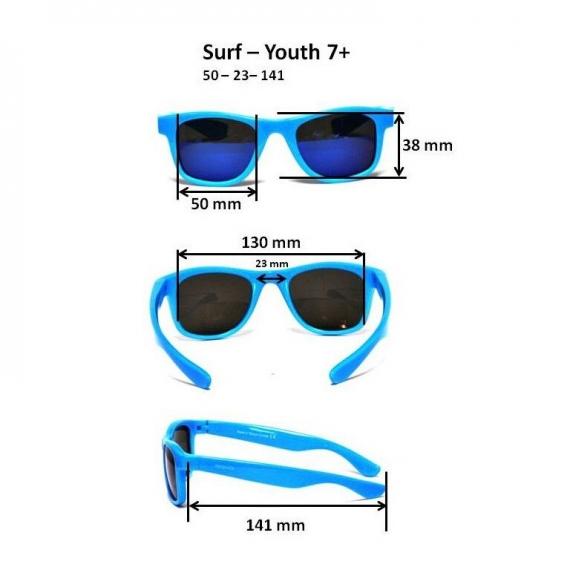 Детские солнцезащитные очки Real Kids Серф 7+ черные