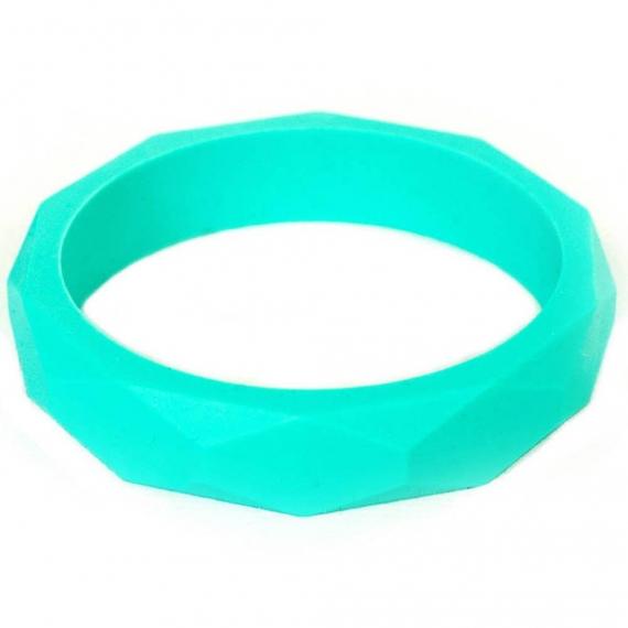 Силиконовый браслет Itzy Ritzy Round Bangle Turquoise