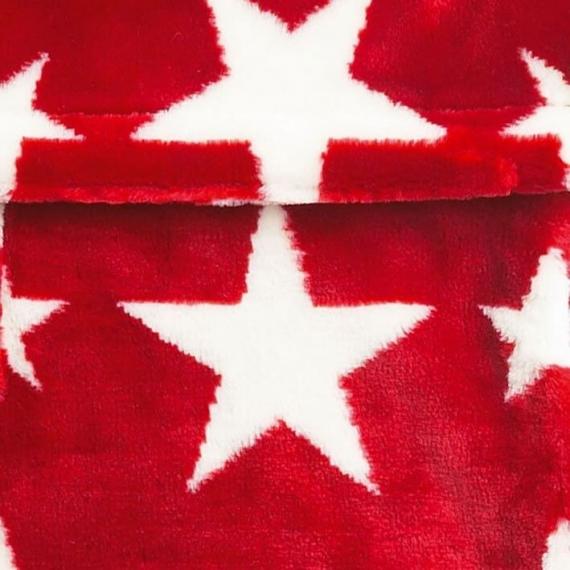 Теплый флисовый конверт Buggysnuggle Stars Red / White Fur