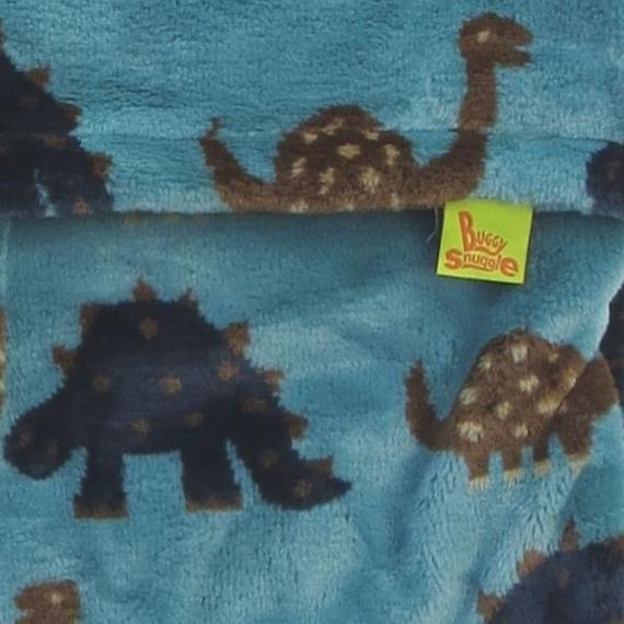 Конверт Buggysnuggle Dinosaurs Aqua /искусственный мех