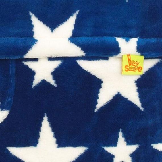 Конверт Buggysnuggle Stars Sapphire/White /искусственный мех
