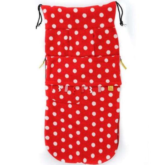 Флисовый конверт Buggysnuggle Toggles Red / White Spot