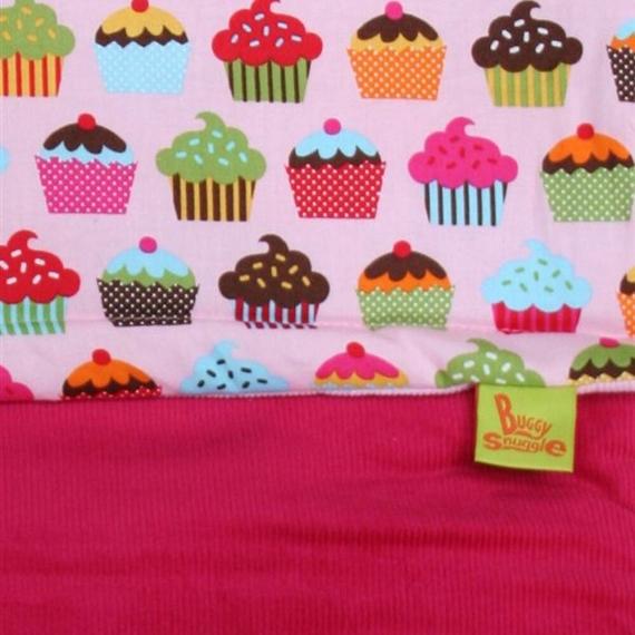 Хлопковый конверт Buggysnuggle Cord Sugar Pink / Cupcakes