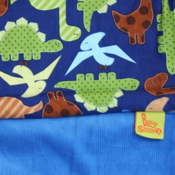 Хлопковый конверт Buggysnuggle Cord Lotus Blue / Dinosaurs