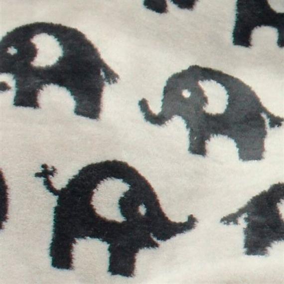 Теплый флисовый конверт Buggysnuggle Elephants Granite