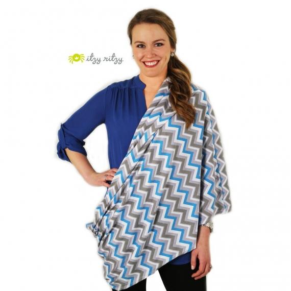 Муслиновый шарф для кормления Itzy Ritzy Sweet Dreamcatcher, Blue