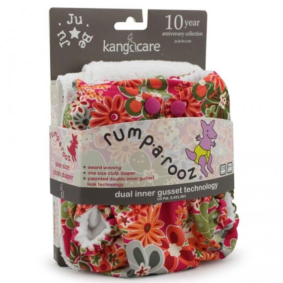 Многоразовый подгузник Rumparooz Onesize Kanga Care Perky Perennials