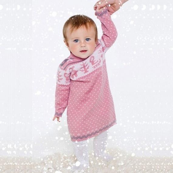 Платье розовое (размер 3-4 года)