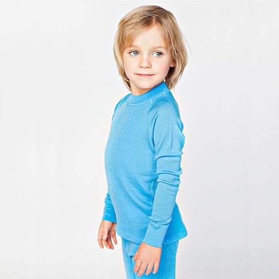 Водолазка из шерсти мериноса голубая (размер 4-5 лет)