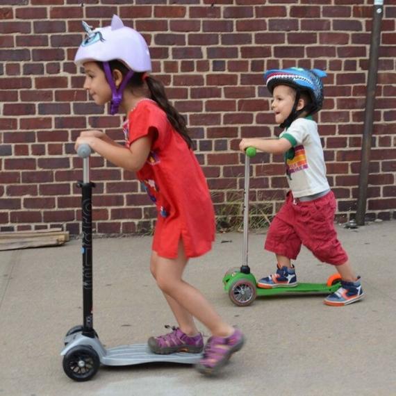 Самокат Maxi Micro T серебро для детей от 5 до 12 лет