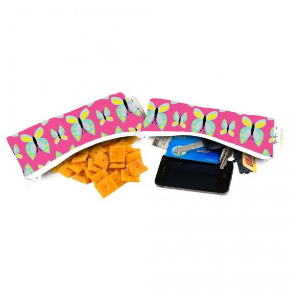 Сумочки ланч боксы 2 шт. Itzy Ritzy Snack Happens Mini Social Butterfly