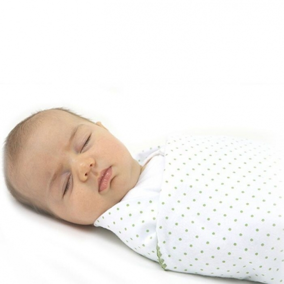Фланелевая пеленка для новорожденного SwaddleDesignsLavender Polka D