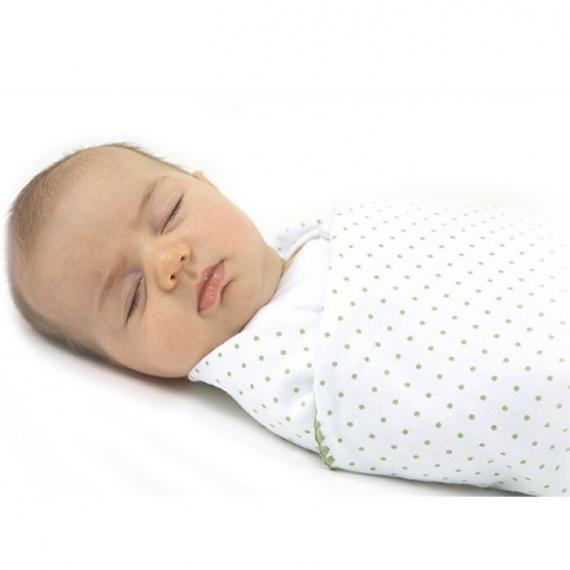 Фланелевая пеленка для новорожденного SwaddleDesigns Navy Lt. Stars