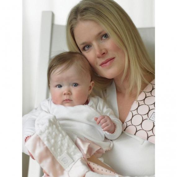 Комфортер платочек обнимашка Baby Lovie SwaddleDesigns плюшевая нежность WH w/Navy Satin