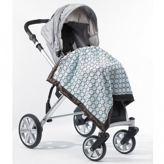 Плед детский SwaddleDesigns Stroller Blanket Blue w/BR Mod C