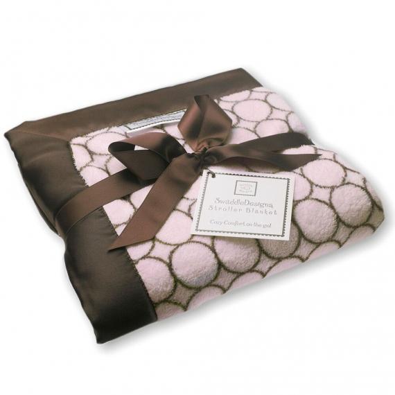 Плед детский SwaddleDesigns Stroller Blanket Pink w/BR Mod C