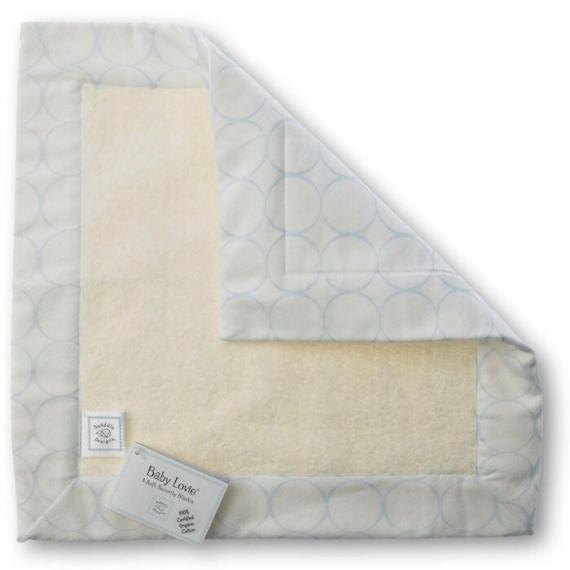 Комфортер платочек обнимашка Baby Lovie - Organic Blue Mod on IV