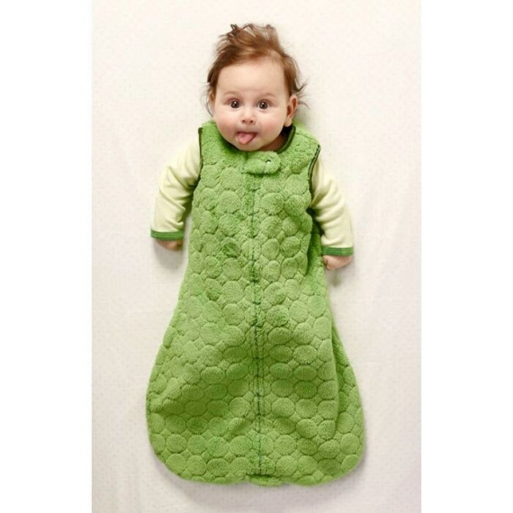 Спальный мешок для новорожденного SwaddleDesigns zzZipMe Sack 6-12M Flannel PB Polka Dot