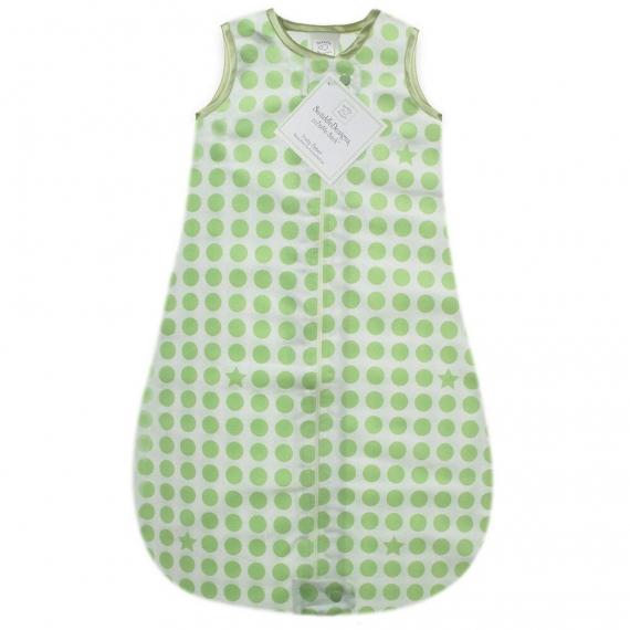 Спальный мешок для детей SwaddleDesigns TOG 0.7 zzZipMe Sack Organic Flannel KW Dots & Stars