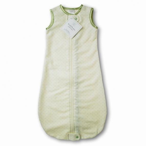 Спальный мешок для новорожденного SwaddleDesigns zzZipMe Sack 3-6M Flannel Lt KW w/KW Dots