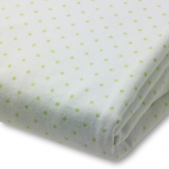 Простынь детская SwaddleDesigns Fitted Crib Sheet Kiwi Dot