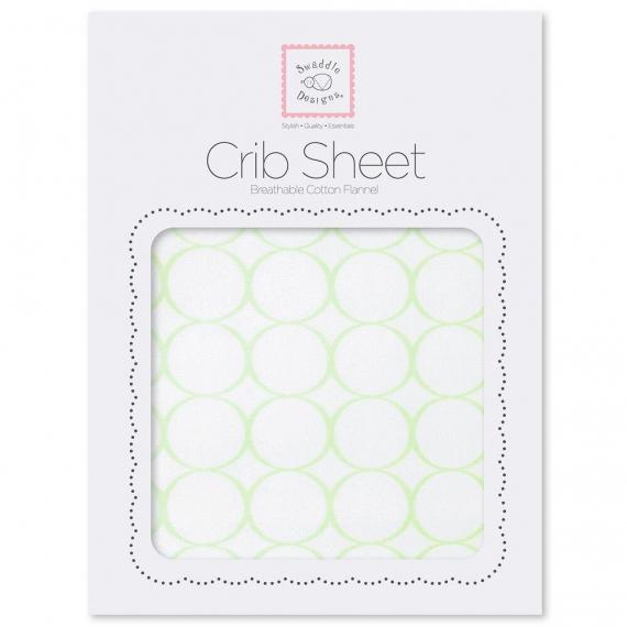 Простынь детская SwaddleDesigns Fitted Crib Sheet Kiwi Mod