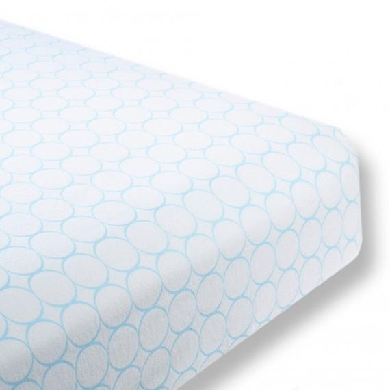 Простынь детская SwaddleDesigns Fitted Crib Sheet Pstl. Blue Mod