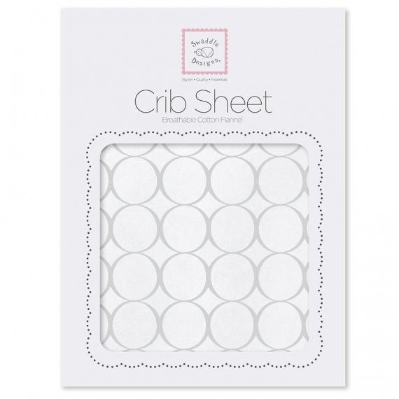 Простынь детская SwaddleDesigns Fitted Crib Sheet Sterlingl Mod