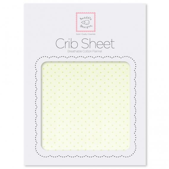 Детская простынь Fitted Crib Sheet Lt. KW w/KW Dots