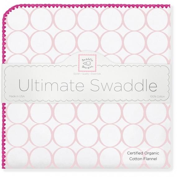 Фланелевая пеленка Organic IV w/Pink Mod C