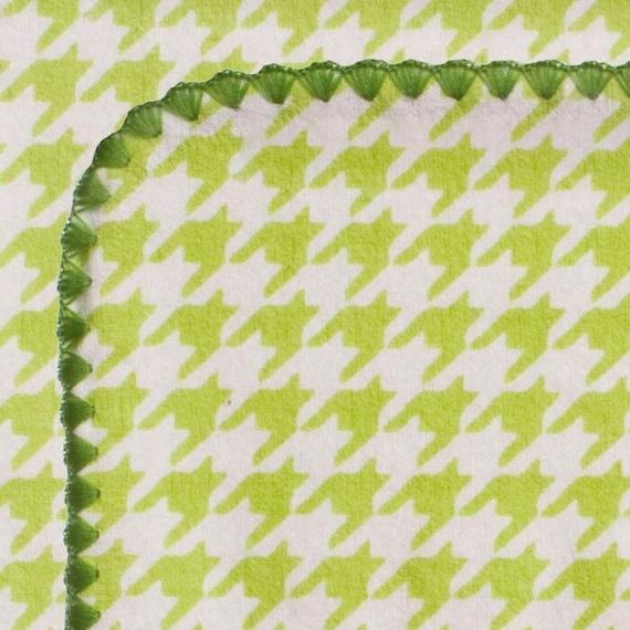 Фланелевая пеленка для новорожденного SwaddleDesigns Kiwi Puppytooth