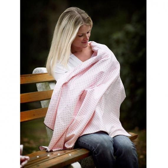 Фланелевая пеленка для новорожденного SwaddleDesigns Pink Puppytooth