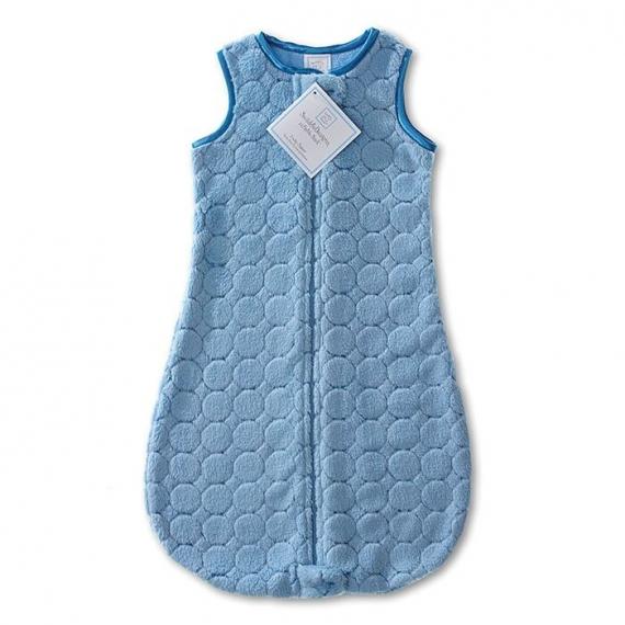 Детский спальный мешок SwaddleDesigns zzZipMe 3-6 М Blue Puff Circle
