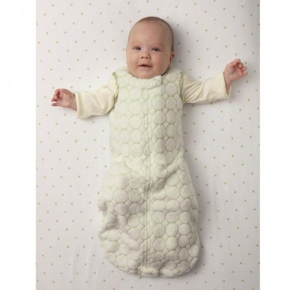 Детский спальный мешок SwaddleDesigns zzZipMe 6-12 М Pink Puff w/Dk Satin