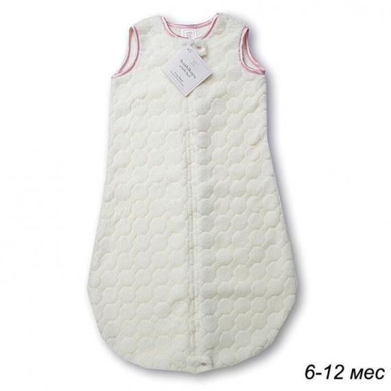 Детский спальный мешок SwaddleDesigns zzZipMe 6-12 М Ivory Puff w/Pink