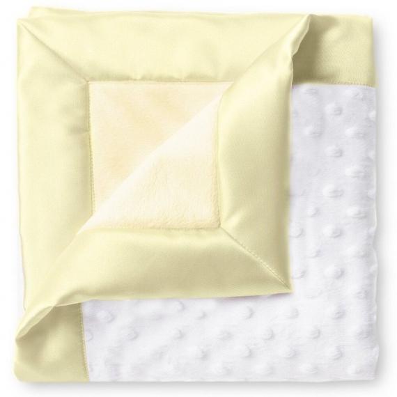 Плед детский флис SwaddleDesigns Stroller Blanket WH Plush/PY Velvet