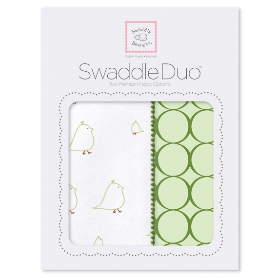 Набор пеленок SwaddleDesigns Swaddle Duo KW Big Chickies