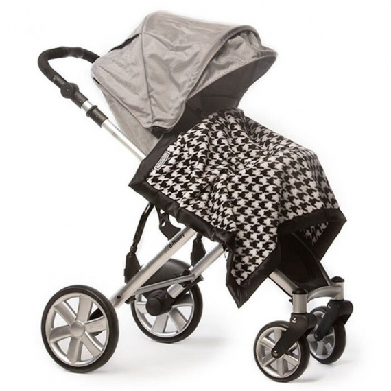 Плед детский SwaddleDesigns Stroller Blanket VB Puppytooth
