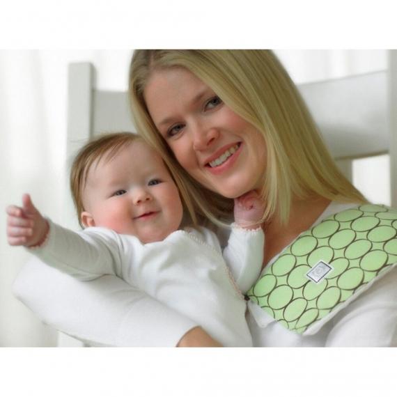 Полотенчики SwaddleDesigns Baby Burpie Set Pink Sterling Mod Circles on Sunwashed Pastels