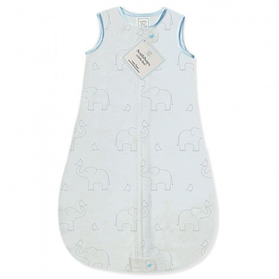 Детский спальный мешок SwaddleDesigns zzZipMe Sack (6-12) Blue/Sterling Deco Elephant