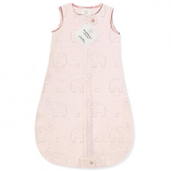 Детский спальный мешок SwaddleDesigns zzZipMe Sack (12-18) Pink/Srerling Deco Elephant