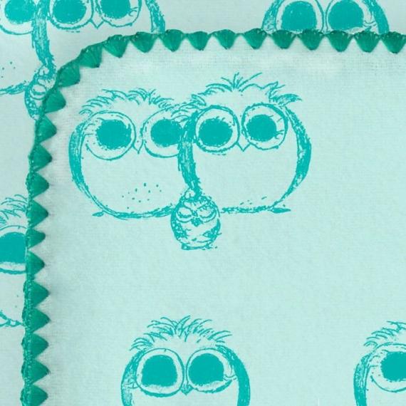 Фланелевая пеленка для новорожденного SwaddleDesigns TQ Owls