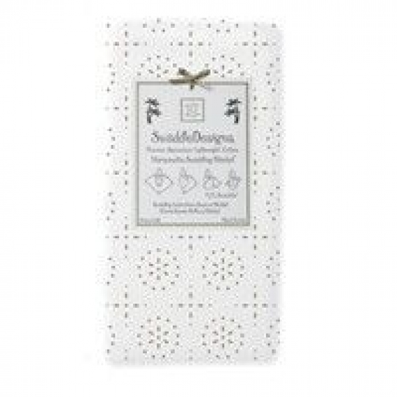 Пеленки детские тонкие SwaddleDesigns Taupe Gray Sparklers on White