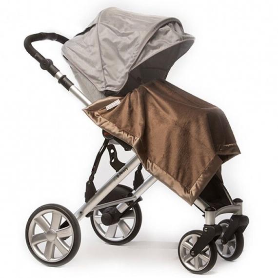 Плед детский флис SwaddleDesigns Stroller Blanket PB/TG Baby Velvet